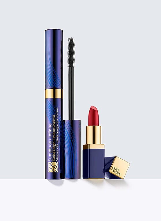 coffret estee lauder mascara lipstick make up gift set 5 sample beaute gratuit ebay. Black Bedroom Furniture Sets. Home Design Ideas